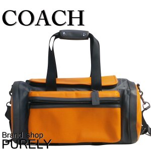 コーチ COACH バッグ メンズ ボストン バッグ アウトレット パーフォレイテッド テイレン ジム バッグ F56875 LL6 オレンジ×ブラック|purely