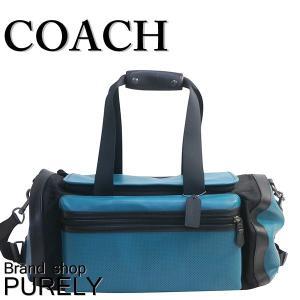 コーチ COACH バッグ メンズ ボストン バッグ アウトレット パーフォレイテッド テイレン ジム バッグ F56875 LL7 グリーン×ブラック|purely