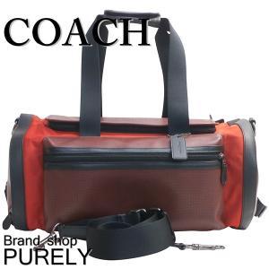 コーチ COACH バッグ メンズ ボストン バッグ アウトレット パーフォレイテッド テイレン ジム バッグ F56875 M3V ブリックレッド×ブライトレッド|purely