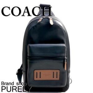 コーチ COACH バッグ メンズ ショルダーバッグ ボディ バッグ アウトレット パーフォレイテッド テイレン パック F56877 FD7 ブラック×ダークサドル|purely