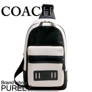 コーチ COACH バッグ メンズ ショルダーバッグ ボディ バッグ アウトレット パーフォレイテッド テイレン パック F56877 HA/BK チョーク×ブラック|purely