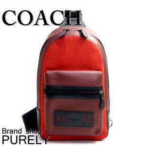 コーチ COACH バッグ メンズ ショルダーバッグ ボディ バッグ アウトレット パーフォレイテッド テイレン パック F56877 M3V ブリックレッド×ブライトレッド|purely