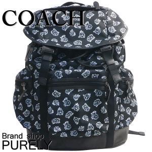 コーチ COACH バッグ メンズ アウトレット リュック バック パック フローラル ナイロン テイレン トレック パック F57476 LL2 ブラック×ホワイトフローラル|purely