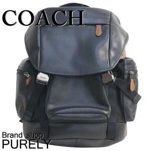 コーチ COACH バッグ メンズ アウトレット バック パック パーフォレイテッド テイレン トレック パック リュック サック F57477 FD7 ブラック×ダークサドル|purely
