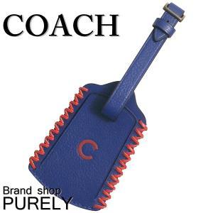コーチ COACH キーホルダー 小物 アウトレット COACH×MLB ラゲージ タグ バッグ チャーム F58943 FAT ブルー×レッド|purely