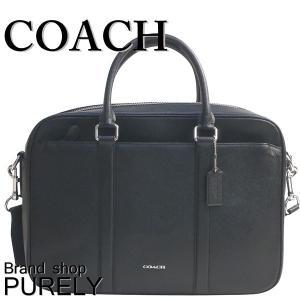 コーチ COACH バッグ メンズ アウトレット ブリーフケース ビジネスバッグ レザー ペリー スリム ブリーフ F59057 BLK ブラック|purely