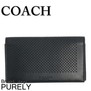 コーチ COACH 小物 カードケース メンズ アウトレット スマートフォン iPhone スマホケース F65204 BLK ブラック purely