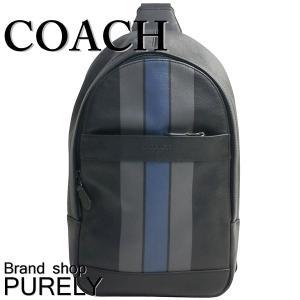 コーチ COACH バッグ メンズ ショルダーバッグ ボディ バッグ アウトレット ヴァーシティ レザー キャンパス パック F72226 QBMFZ ダークデニム|purely