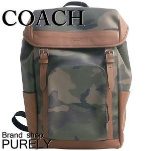 コーチ COACH バッグ リュック メンズ  アウトレット プリンテッド ヘンリー バック パック リュックサック F72228 EC0 グリーンカモ|purely