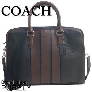 コーチ COACH バッグ メンズ アウトレット ビジネスバッグ ぺブル  レザー ボンド ブリーフ ケース F72308 BK/MA ブラック×マホガニー|purely