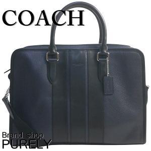 コーチ COACH バッグ メンズ アウトレット ビジネスバッグ ぺブル  レザー ボンド ブリーフ ケース F72308 MQ/BK ミッドナイト×ブラック|purely