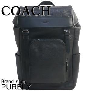 コーチ COACH バッグ リュック メンズ  アウトレット ペブル レザー ヘンリー バック パック リュックサック F72311 BLK ブラック|purely