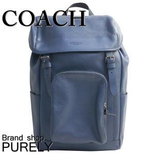 コーチ COACH バッグ リュック メンズ アウトレット ペブル レザー ヘンリー バック パック リュックサック F72311 QB/D9 ダークデニム|purely