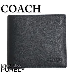全品ポイント2倍 コーチ COACH 財布 メンズ スポーツ カーフ レザー ウォレット 折り財布 F75084 BLK ブラック