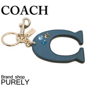 コーチ COACH 小物 キーホルダー レディース アウトレット ロゴ ビジュー バッグチャーム F87112 BKCEH ダークティール purely