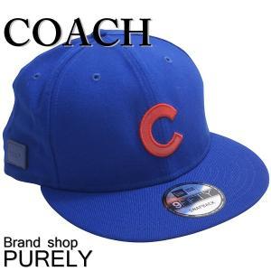 コーチ COACH 帽子 メンズ アウトレット MLB フラット ブリム キャップ F87250 FAT ブルー|purely