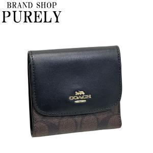 コーチ COACH 財布 折りたたみ財布 メンズ レディース アウトレット シグネチャー F87589 IMAA8 ブラウン×ブラック purely