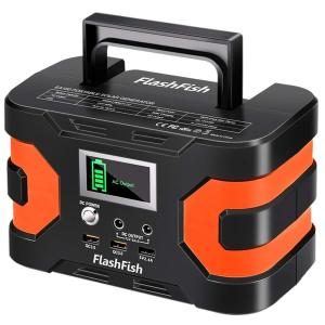 FlashFish ポータブル電源 大容量 小型発電機 45000mAh/166Wh AC(150W 瞬間最大200W) DC(120W) 家庭用蓄電池 USB出力 純正弦波 急速充電QC3.0搭載 三つの充電方