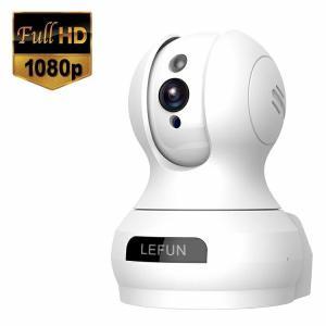 Lefun ネットワークカメラ1080P 200万画素 ベビーモニター IP監視防犯カメラ 高解像度...