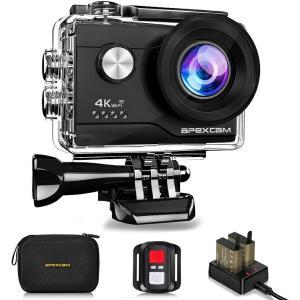 4K超高画質 Apexcam アクションカメラ 4K 2000万画素 SONYセンサー WiFi搭載...