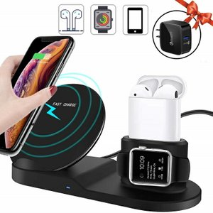 Miuly Qi ワイヤレス充電器 iPhone/Apple Watch/Airpods 3 in ...
