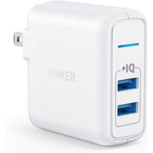 Anker PowerPort 2 Elite (USB 充電器 24W 2ポート)【PSE認証済/...