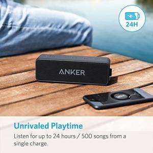 Anker SoundCore 2 (12W Bluetooth 4.2 スピーカー 24時間連続再生)【強化された 低音 IPX5 防水規格 デュアルドライバー マイク内蔵】 A3105011   アンカー ス puremiamuserekuto 03