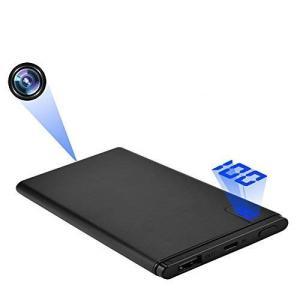 小型カメラ モバイルバッテリー型カメラ 高画質監視防犯カメラ バッテリー表示 携帯便利 長時間録画 日本語取扱付き|puremiamuserekuto
