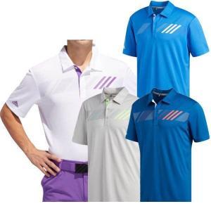 アディダスゴルフ チェストストライプ 半袖シャツ メンズ FSM58|puresuto
