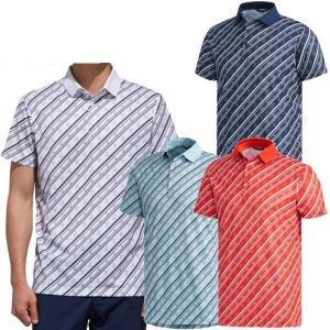 アディダスゴルフ アディクロス クラブプリント 半袖ポロシャツ メンズ FVE51 puresuto
