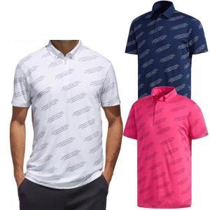 アディダスゴルフ アディクロス レタードデザイン 半袖ボタンダウンポロシャツ メンズ FVE79 puresuto