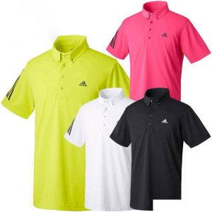 アディダスゴルフ CLIMACOOL ボタンダウン半袖ポロシャツ メンズ LNN00|puresuto
