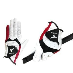 ブリヂストン ツアーステージ ゴルフグローブ 片手用 左手装着用 GLPR16 ホワイト/レッド 5P|puresuto