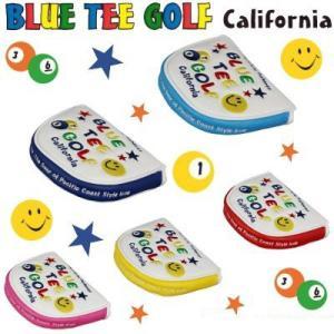 ブルーティーゴルフ カルフォルニア スマイル&ピンボール パターカバー マレット型対応|puresuto