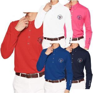 キャロウェイ 長袖 ファイン鹿の子 ボタンダウンカラーシャツ メンズ 241-8256504 ウエストボックス型|puresuto