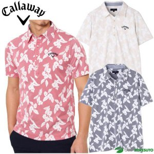 キャロウェイ フラワーストライプ レギュラー 半袖シャツ カラーシャツ メンズ 241-9157530|puresuto