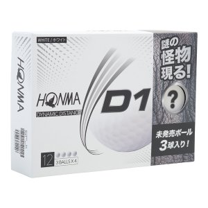 本間ゴルフ HONMA D1 お試し限定パック ゴルフボール9個+謎の怪物ボール3個(12球入り)BT2002