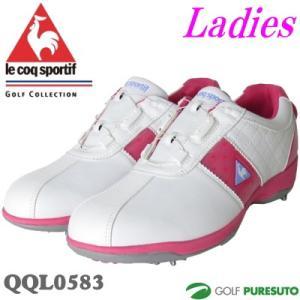 レディース ルコック ゴルフシューズ QQL0583 ヒールダイヤル式 WLS 即納