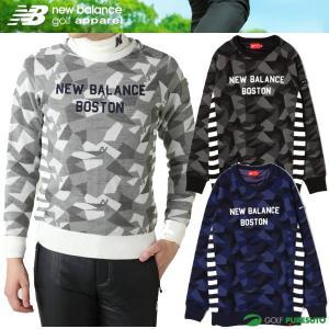 ニューバランス ゴルフ ポリゴンカモフラジャガードクルーネックニット プルオーバー メンズ セーター 012-7270005 防寒 即納 puresuto