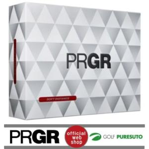 【オウンネーム】プロギア PRGR ソフトディスタンス ゴルフボール 1ダース 【■P■】|puresuto