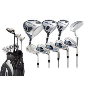 ワークスゴルフ D-rod メンズクラブ9本セット 1W、3W、U4、#7、#8、#9、PW、SW、PT +キャディーバッグ付き|puresuto