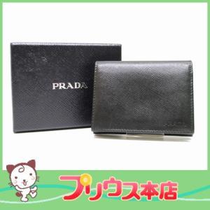 PRADA プラダ サフィアーノレザー カードケース 名刺入れ ブラック メンズ レディース 6893|purishonten