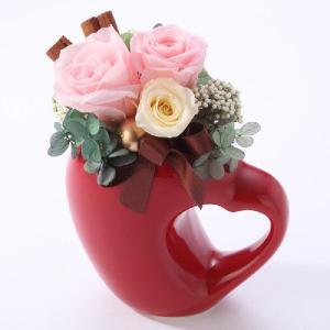 プリザーブドフラワー 誕生日 プレゼント 母の日 入学式 バレンタイン ホワイトデー 記念日 出産 ハート リーベ ライトピンク|purizasenka