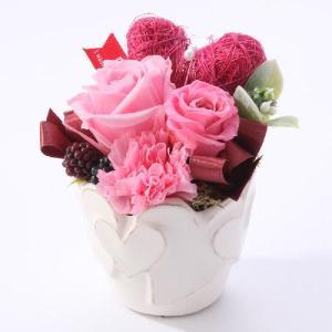 プリザーブドフラワー ギフト 誕生日 プレゼント バレンタイン ホワイトデー お祝い 記念日 結婚 出産 還暦 粗品 法人 ハート ピュアハート ライトピンク|purizasenka