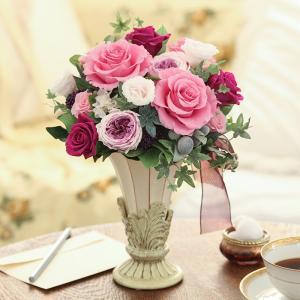 プリザーブドフラワー ギフト 記念日 誕生日 結婚 新築 引越 開店 開業 バレンタイン 母の日 敬老の日 送料無料 エスポワール|purizasenka