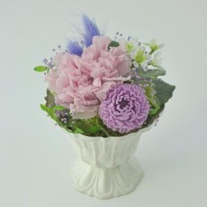 プリザーブドフラワー通販 供花「サラ(パープル)」/仏花/お供え/仏事/お盆/お彼岸/紫色|purizasenka