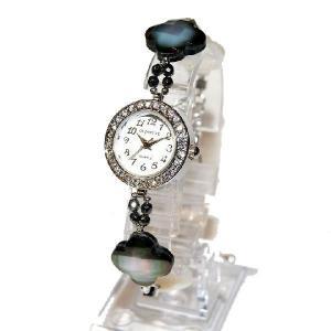 腕時計 レディース 時計 天然石 ブレスレット おしゃれ 日本製クォーツ プレゼント 記念日 誕生日 妻 大人の女性 金属アレルギー 真珠 purotango