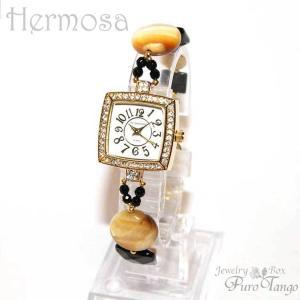 腕時計 レディース 天然石 ブレスレット おしゃれ 日本製クォーツ プレゼント   パワーストーン 妻 大人の女性 金属アレルギー purotango