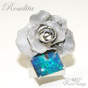 リング 指輪 薔薇 バラモチーフ オパール ローズ  シルバー パワーストーン   プレゼント  妻  ジュエリー|purotango