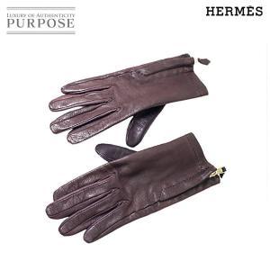 エルメス HERMES レザー グローブ 手袋 レディース ...